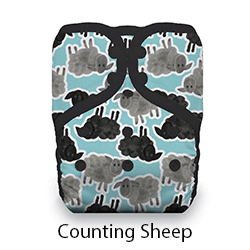 Thirsties Pocket Diaper Snap Counting Sheep