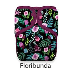 Natural Pocket Diaper Snap Floribunda