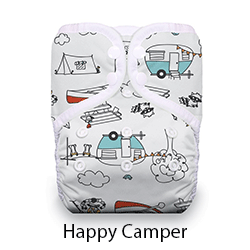 Thirsties Pocket Diaper Snap Happy Camper