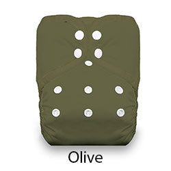 Pocket Diaper Snaps Stay Dry Olive