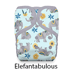 Thirsties Pocket Diaper Elefantabulous