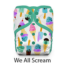Pocket Diaper Snap Stay Dry We All Scream