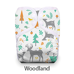 Thirsties Pocket Diaper Snap Woodland