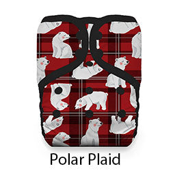 Pocket Diaper Snap Polar Plaid