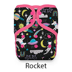 Thristies Pocket Diaper Snaps Stay Dry Rocket