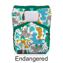 Thirsties Pocket Diaper Hook and Loop Endangered