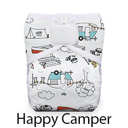 Thirsties Pocket Diaper Hook and Loop Happy Camper