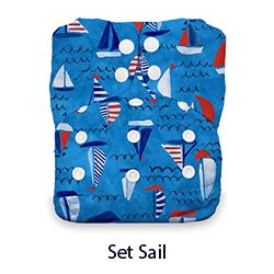 Thirsties Natural AIO Snap Set Sail