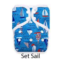 Thirsties Pocket Diaper Snap Set Sail