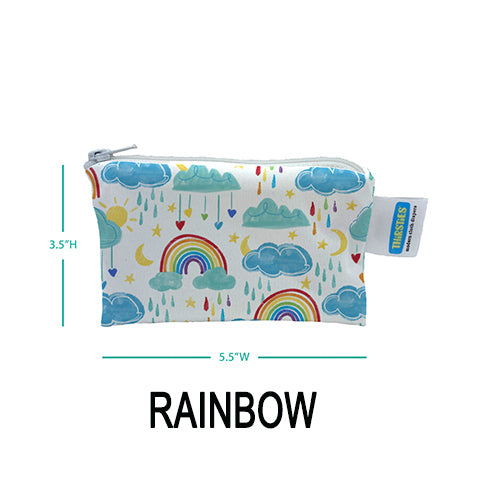 Thirsties Simple Pouch Rainbow bag