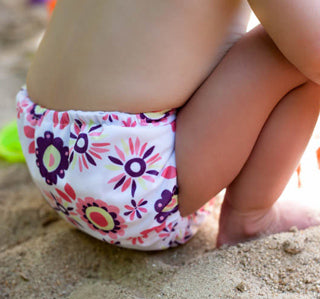 alice brights Thirsties cloth diaper on a baby
