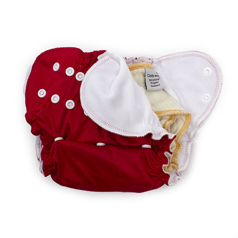 AppleCheeks one-size diaper cover with Workhorse diaper