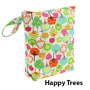 Blueberry diaper wet bag happy trees