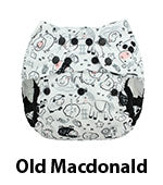 Blueberry One Size Capri Cover Old Macdonald