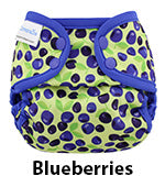blueberries newborn diaper cover