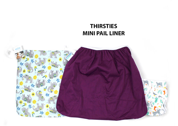 Thirsties mini pail liner size comparison