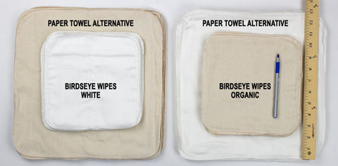 compare baby wipes and paper towel alternative wipes