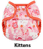 Blueberry Coveralls diaper cover kittens print