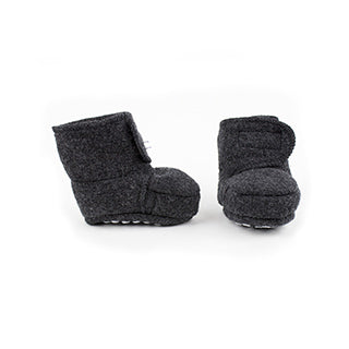 Disana wool baby booties anthracite