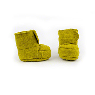 Disana wool baby booties curry yellow