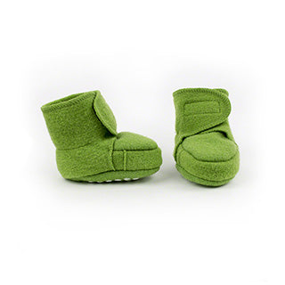 Disana wool baby booties green