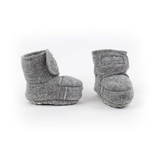 Disana wool baby booties grey