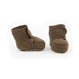 Disana wool baby booties hazelnut brown
