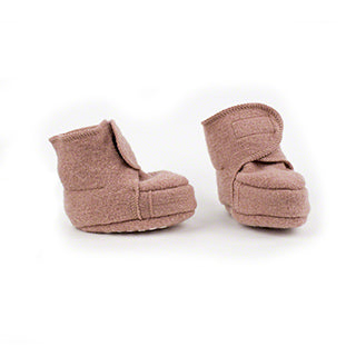 Disana wool baby booties rose pink