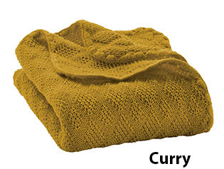 Disana knit blanket curry