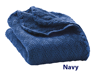 Disana Knitted Blanket Navy 315
