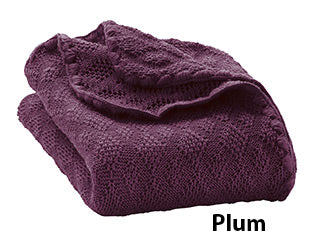 Disana knit blanket plum