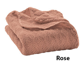 Disana knit blanket rose