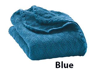 disana blue baby merino wool blanket