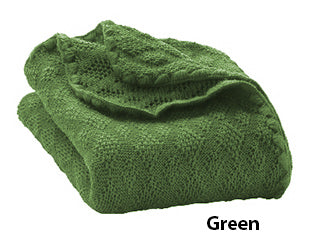Disana knit blanket green