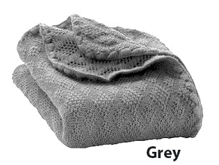 Disana knit blanket grey