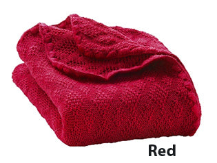 Disana knit blanket red