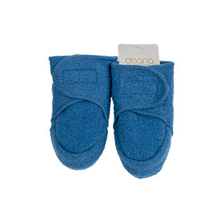 blue disana wool baby booties organic merino wool