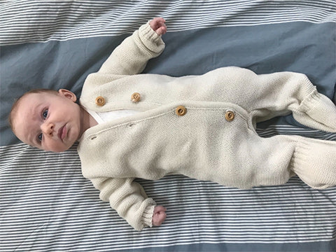 disana wool baby romper outfit