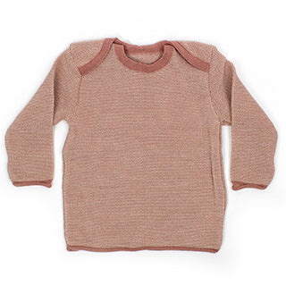 rose pink disana melange wool baby sweater