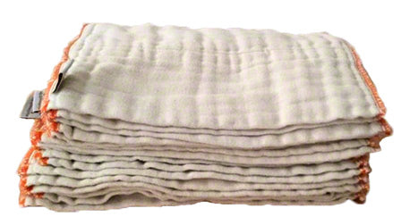 dozen washed newborn prefold diapers