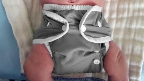 Fin grey diaper cover Thirsties Duo Wrap size one