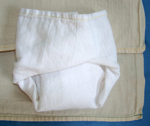 old fashioned cotton diapers