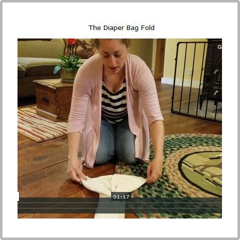how to fold flat diapers