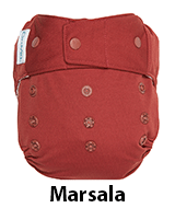 marsala red cloth diaper cover grovia