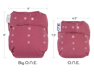 comparison of one and big one youth cloth diaper