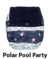 GroVia Shell Diaper Polar Pool Party Hook and Loop