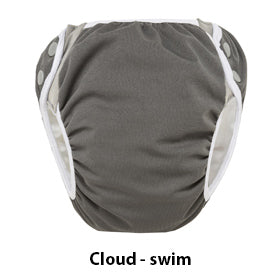 cloud grey swim diaper