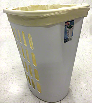 pail liner in hamper