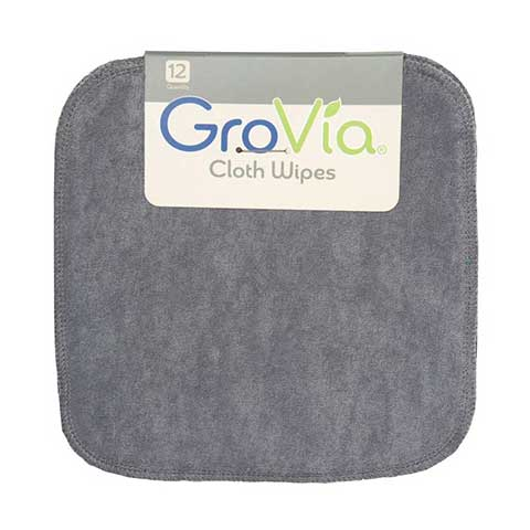 GroVia Wipes Cloud Grey