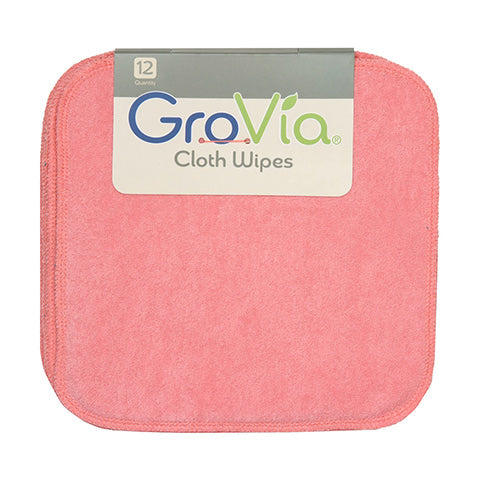 GroVia pink baby wipes